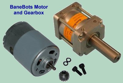 BaneBots P60 gearbox and motor.