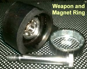 Spinner weapon from 'Algos' showing magnet ring'