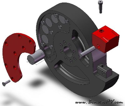 CAD drawing: weapon drum from 'Professor Chaos'