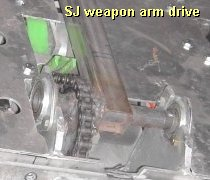 Detail of 'SJ' robot weapon chain drive
