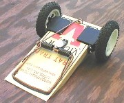 Yes, Rat Amok is a Victor Rat Trap on wheels. Trap is released via a micro servo.