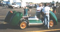 Westfield Lotus Eleven replica - Tech inspection at track day '99